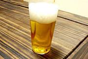 水分補給はビールで!!