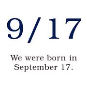 9.17 / 9月17日生まれ!