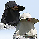 UVつば広帽子