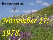 1978年11月17日生まれ