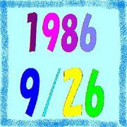 1986年9月26日生まれ☆