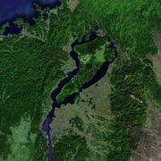 琵琶湖に淡路島を合体させる。