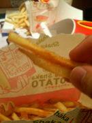ポテトは2本以上つかんで食べる