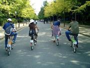 自転車で大阪市内を走る