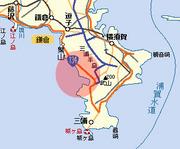 相模湾側の横須賀