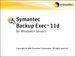 Backup Exec - Veritas/Symantec