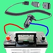 自動車バッテリーから携帯を充電