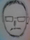 髭坊主眼鏡