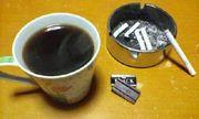ブラックコーヒーとチョコレート