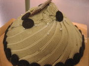 クッキー入りレアチーズケーキ