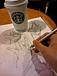 カフェでお絵描き