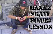 Hana'z skateboard lesson