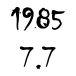 1985 7.7