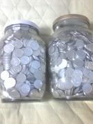 一円玉貯金。