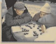 公園で囲碁将棋