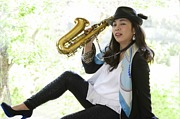alto sax & flute player miwako