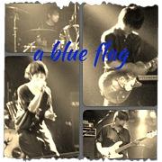 a blue flag