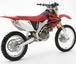 赤いオフロードバイク