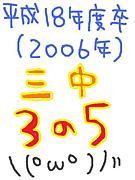 三中*さんねんごくみ(゚σω゚)