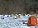 松原湖 氷上ワカサギ釣り