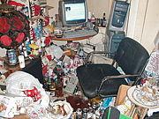 部屋が汚くて親が悲しんでる