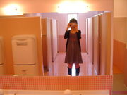 トイレの鏡で写真を撮りたくなる