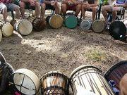 北海道でドラムサークル!