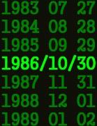 1986年10月30日生まれ