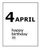 4月生まれ★