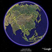 Google.Earthで中国地理