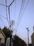 電柱を見上げると