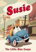 青い自動車 スージー