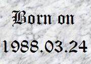 1988年3月24日生まれ!!♡