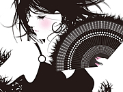 黒髪のロングヘア