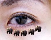 目元のクマ