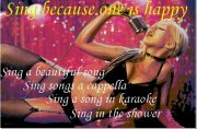 歌うことが大好きです