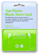 iTunes Music Store Card & GC