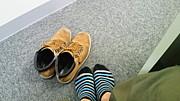 授業中は靴を脱ぐ