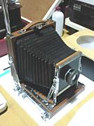 木製大判カメラ