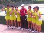 鹿児島純心テニス部♡