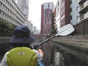 東京運河をパドリング