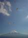 朝霧でパラグライダー