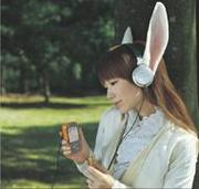 携帯電話で音楽聴いてる人