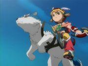 戦う少女と獣のコンビに萌える。