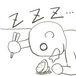 食べながら寝る