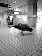 西尾駅の踊り人