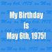 1975年(昭和50年)5月6日生まれ