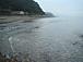 糸魚川で釣りをする人。