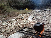 テントと焚き火と美味い飯