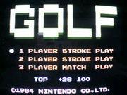 ファミリーコンピューター GOLF